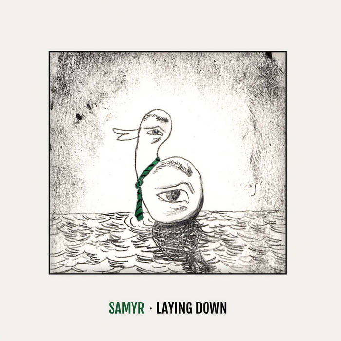 Laying down cover art