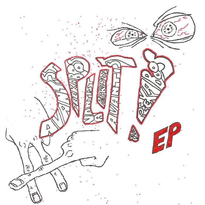 Peekaboos / Avantist SPLIT CD/Cassett cover art