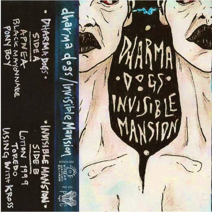 Dharma Dogs / invisible mansion SPLIT CASS cover art