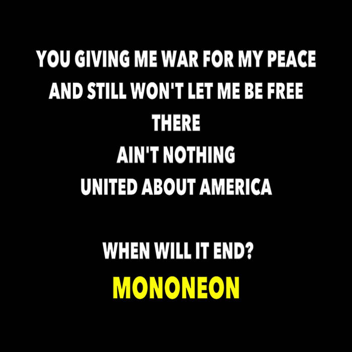 """""""AIN'T NOTHING UNITED ABOUT AMERICA"""" cover art"""