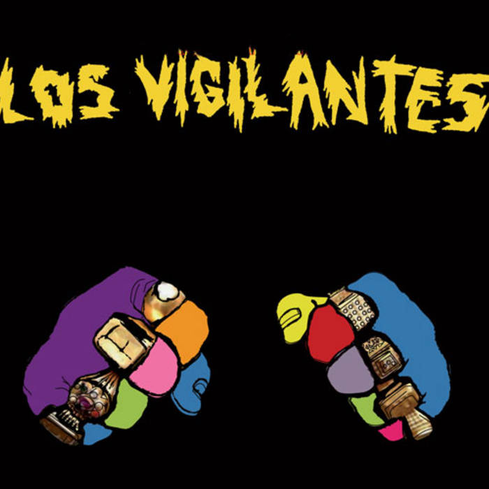 """LOS VIGILANTES """"self-titled"""" LP cover art"""