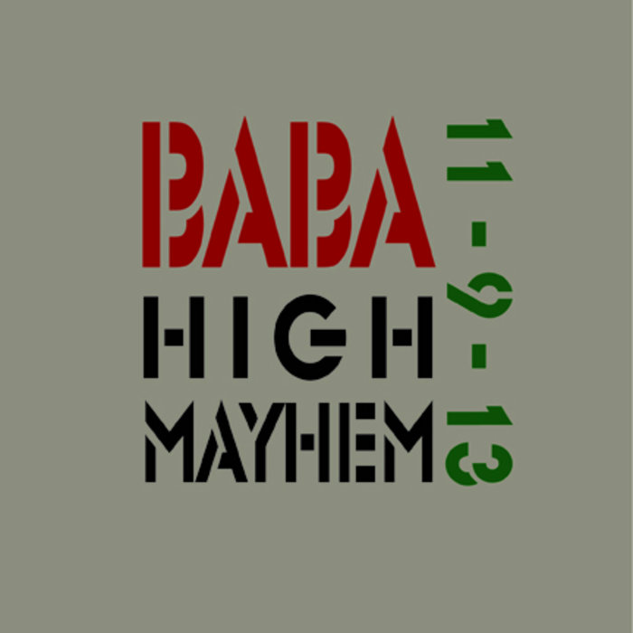 BaBa High Mayhem 11-9-13 cover art