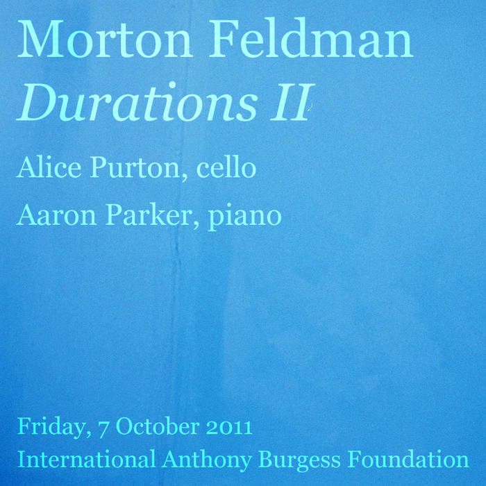 Feldman: Durations II (1960) cover art
