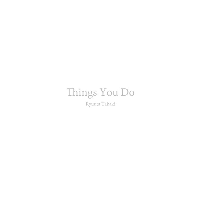 Things You Do cover art