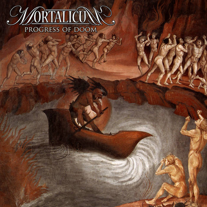"MORTALICUM ""Progress Of Doom"" cover art"