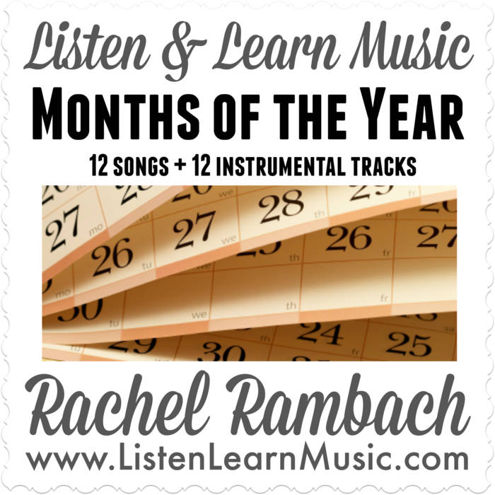 """""""The Months of the Year"""" with Lead Sheet Songbook cover art"""
