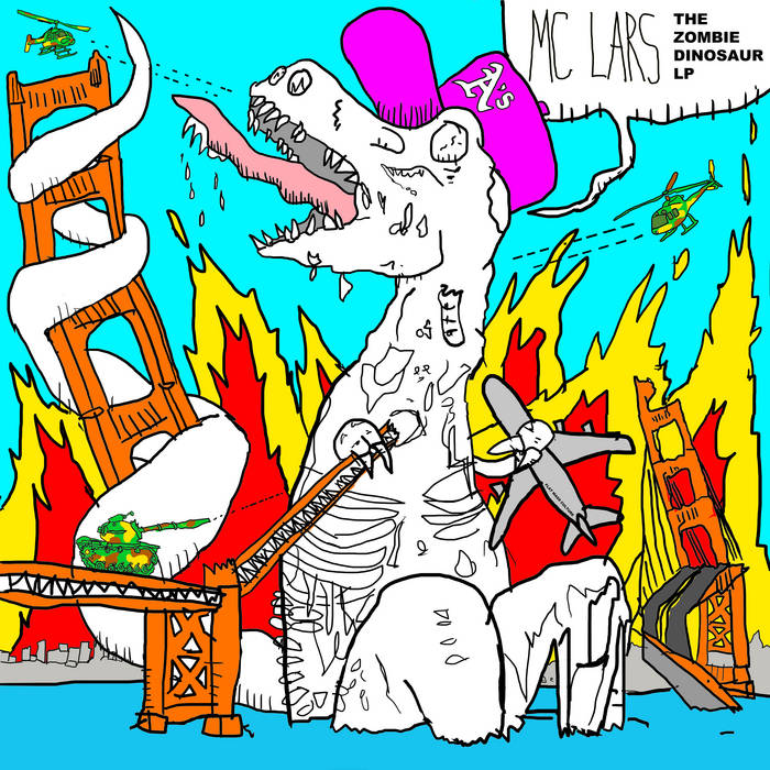 The Zombie Dinosaur LP cover art