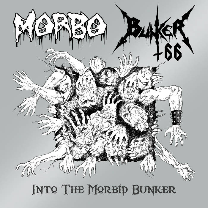 Into the Morbid Bunker (Split album w/ Morbo) cover art