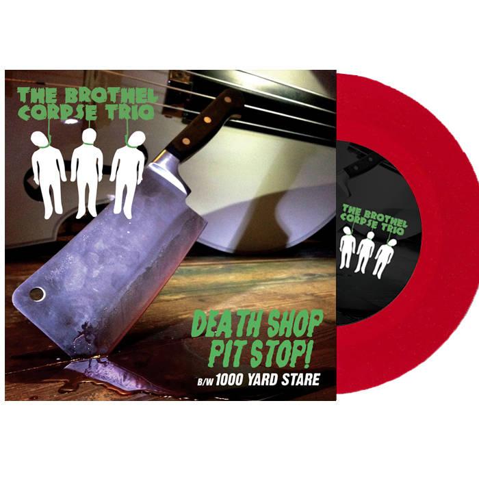"""The Brothel Corpse Trio / Buzzbomb - 7"""" Split Single cover art"""