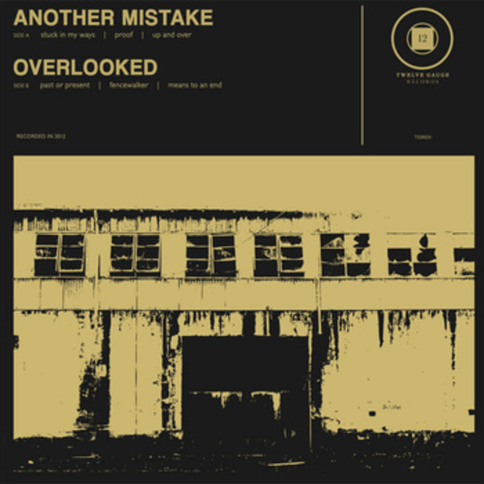 """SPLIT 7"""" EP w/ ANOTHER MISTAKE (2012) cover art"""