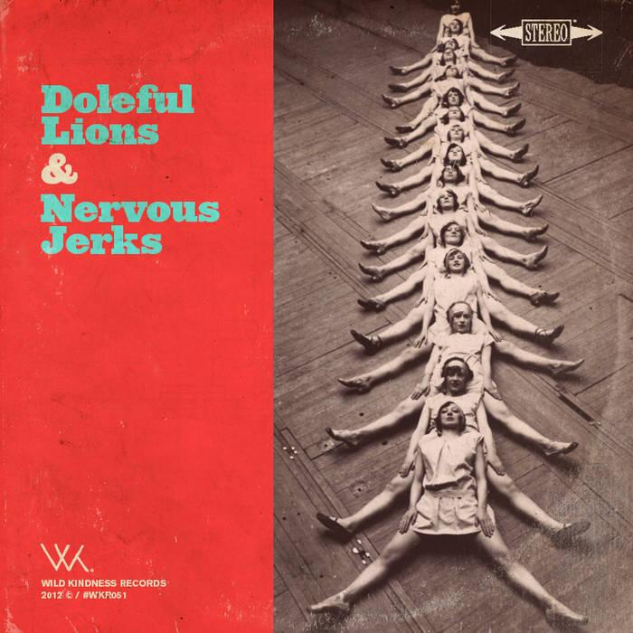 """Nervous Jerks / Doleful Lions Split Lathe-cut 8"""" cover art"""