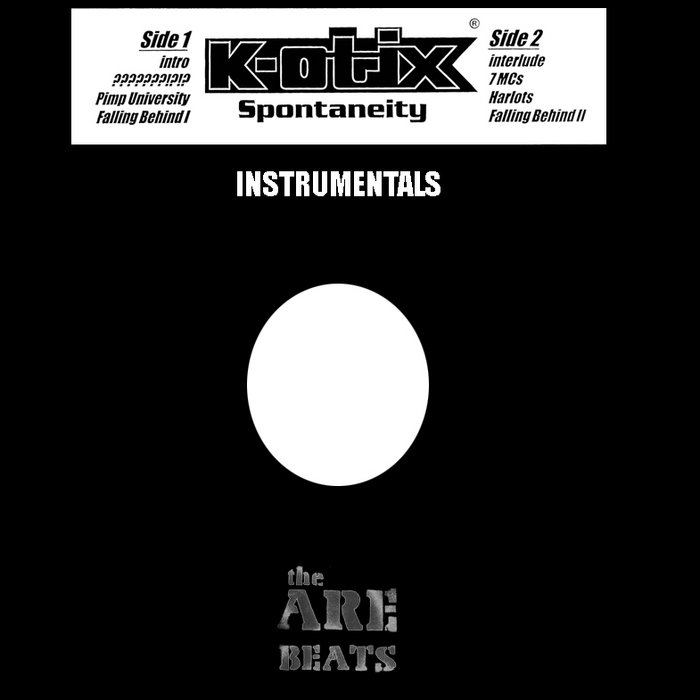 The ARE Presents: K-otix Spontaneity Instrumentals cover art
