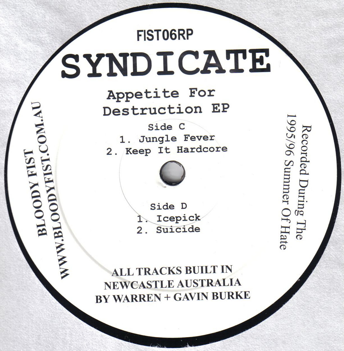 Killer repress of a Bloody Fist classic. The original 1996 DAT masters have  been captured, fattened and spread over 3 x 12