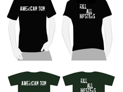 Kill All Hipsters T-Shirt with Devil Digital Download main photo