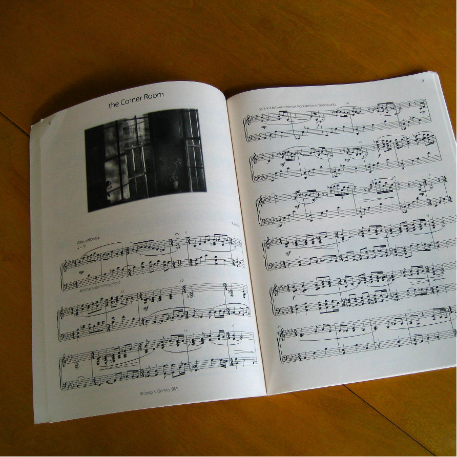 (9 X 12) 36page Sheet Music Book On Ivory Paper + Immediate Download Of  Album