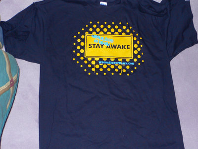 """Stay Awake"" t-shirt, sticker, and CD package main photo"