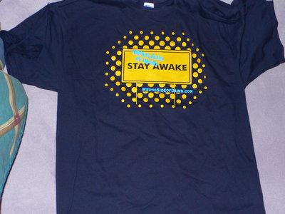 """Stay Awake"" t-shirt, sticker, and CD package main photo"