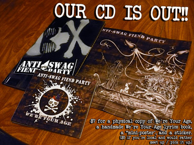 """We're Your Age CD (+ """"mini-poster"""" / sticker) main photo"""