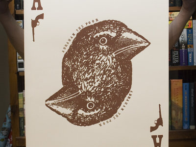 """""""Bird Card"""" Poster. Hand-screened, limited pressing. main photo"""