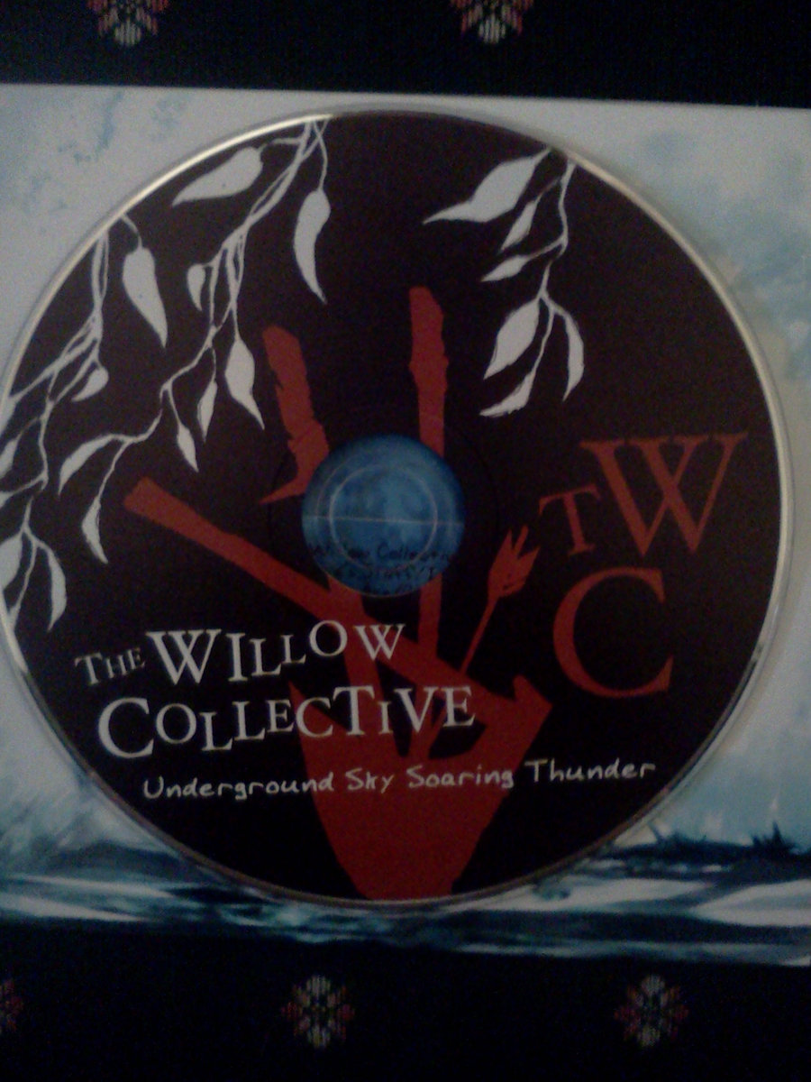 The Willow Collectives Full Length CD Underground Sky Soaring Thunder Featuring Artwork By Dave Squire Peixoto Comes Packaged In A Beautiful