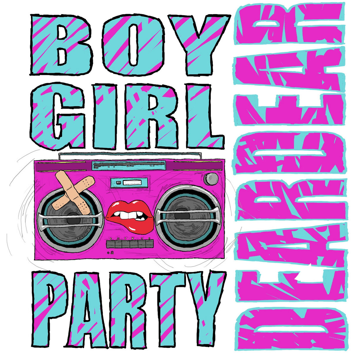 Dear dear boy girl party our ep our t shirt our uv coated big square sticker and whatever other merchy things we can throw at you includes unlimited streaming of dear dear via hexwebz Image collections