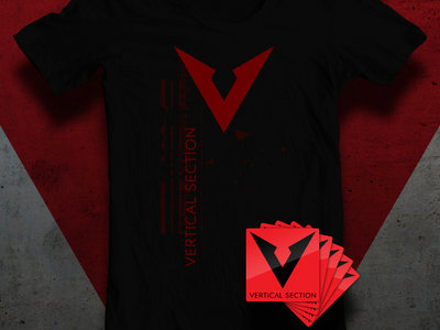 Vertical Section Shirt + 5 Stickers Bundle main photo