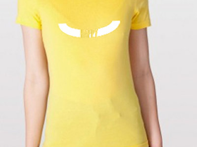 Yellow 'Happy' T-Shirt (Unisex or Ladies) main photo