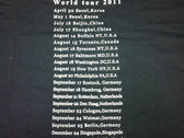 World tour 2011 shirt photo