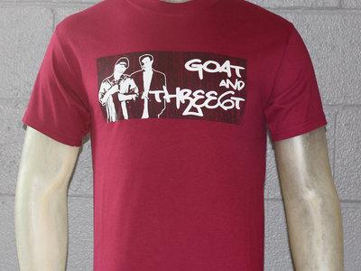 GOAT & three6t T-shirt (Maroon) main photo