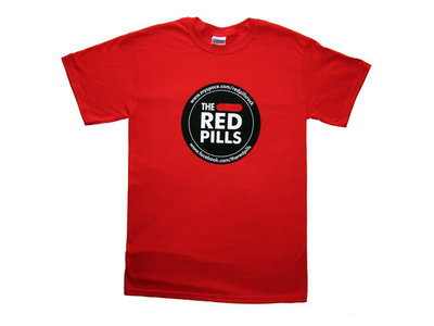 The Red Pills logo red T-Shirt 100% cotton (male small only) main photo