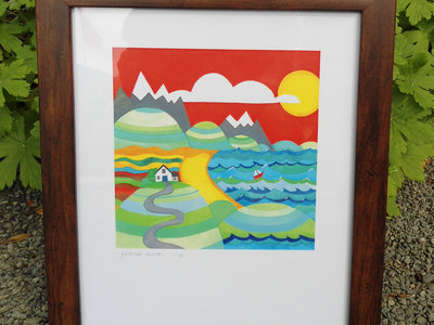 Limited edition framed print of Neigwl album artwork, signed by the artist, plus free download of the entire album main photo