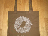 Cotton Tote Bag with the bird photo
