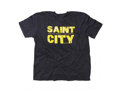 Saint City Mens Black T Shirt main photo