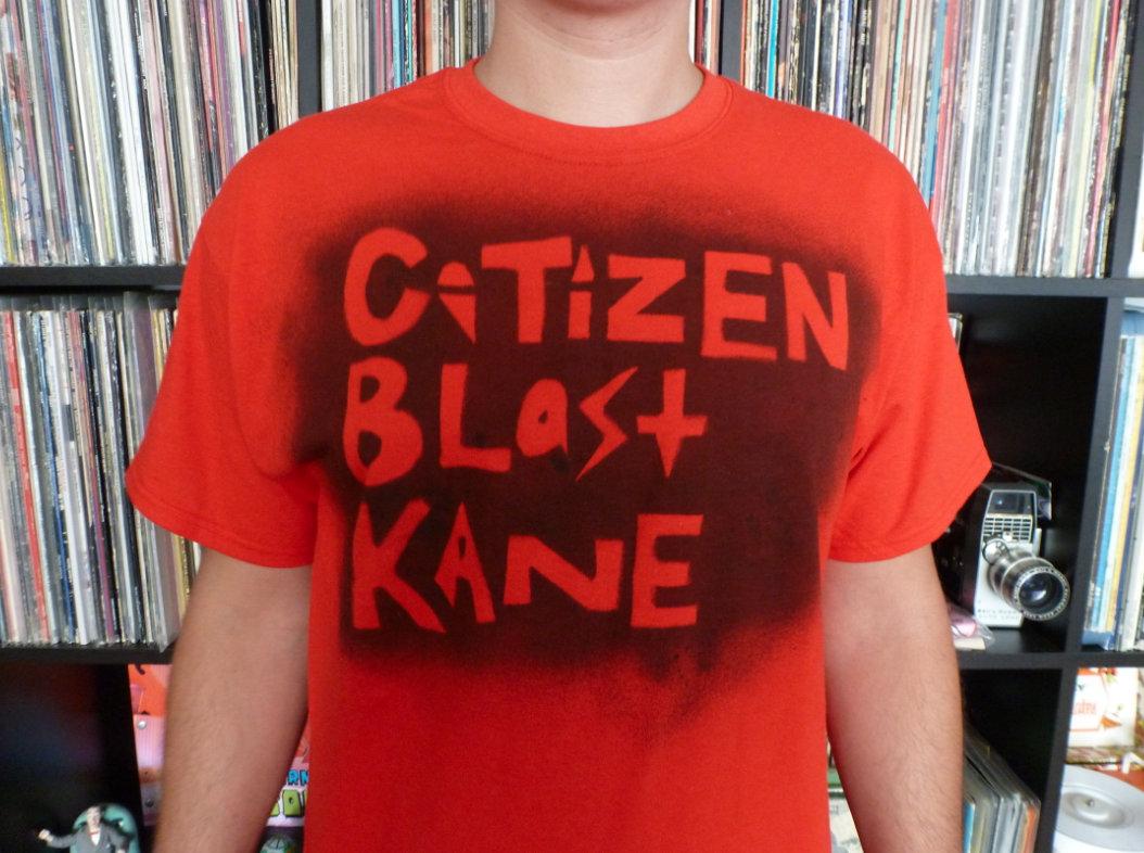 T shirt design red - Citizen Blast Kane T Shirt Design Black On Red Mens Main Photo