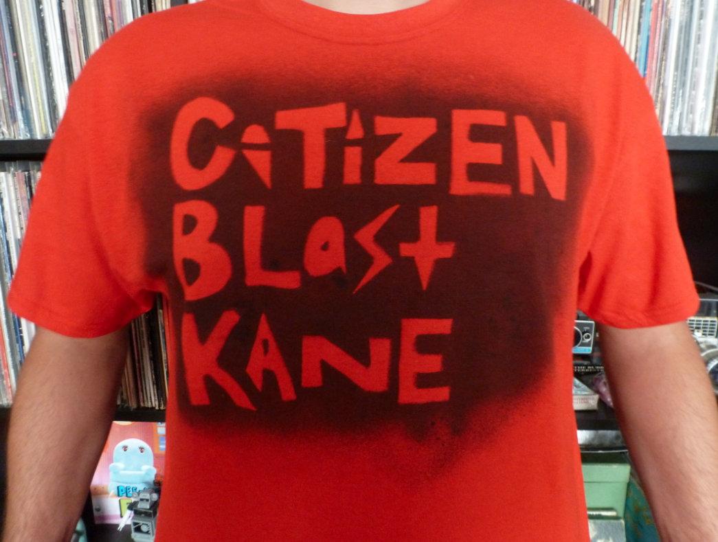 T shirt design red - Citizen Blast Kane T Shirt Design Black On Red Mens Photo