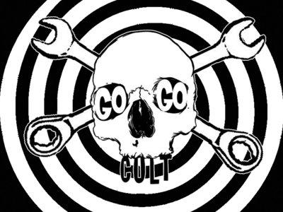The Go Go Cult Skull & Spiral Design T Shirt main photo