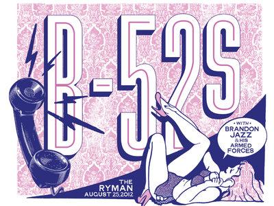 Limited Edition Screenprint - Ryman Auditorium with B-52s main photo