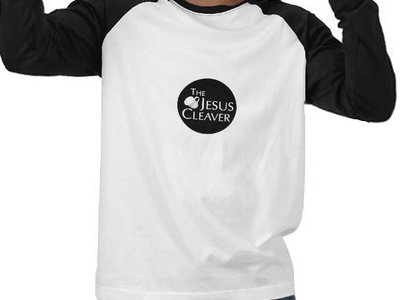 Mens Long Sleve Raglan T-Shirt (White with Black Sleves) (Tea Cup Logo) main photo