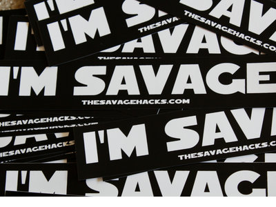 """I'm Savage"" stickers main photo"