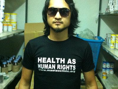 Health As Human Rights T-Shirt Black Medium main photo