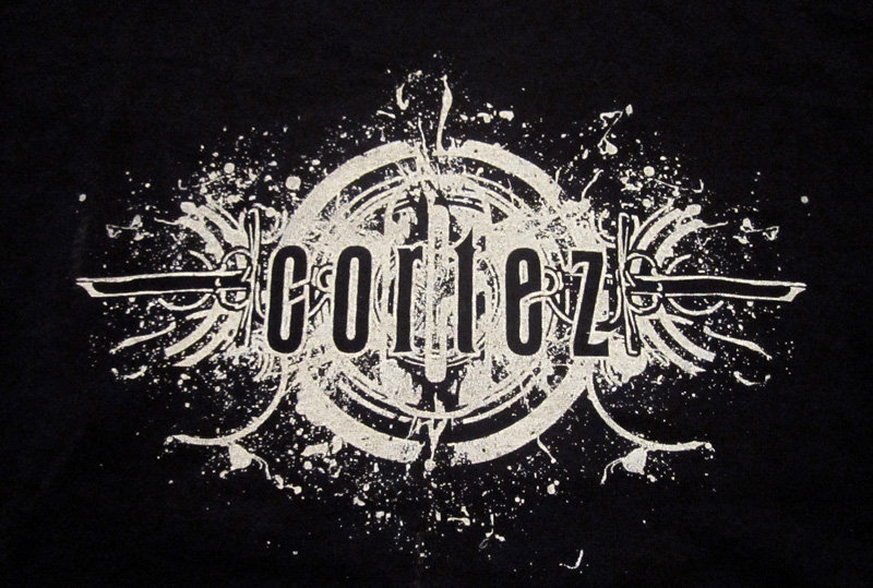 cortez logo design t shirt black photo
