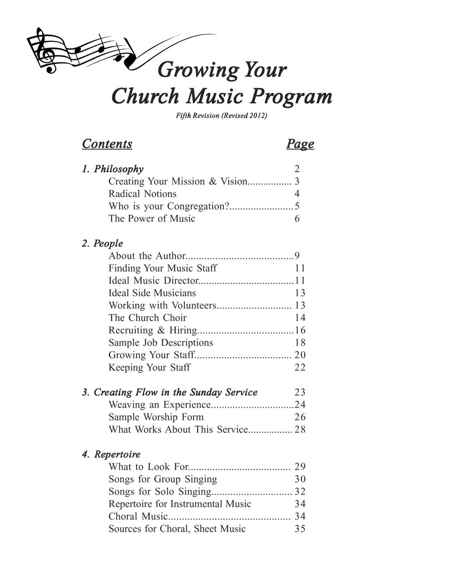 Growing Your Church Music Program Contains Philosophy And Practical Tips On  Creating A More Dynamic, ...