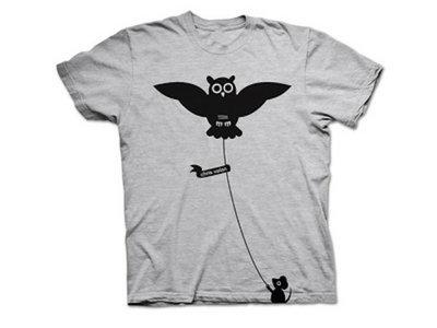 Owl T-Shirt - Gray [Mens] main photo