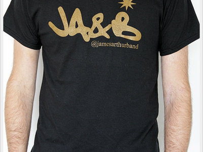James Arthur & Band Logo T-Shirt, Black/Gold Print main photo
