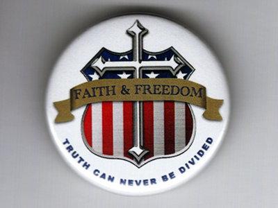 Faith & Freedom Button main photo