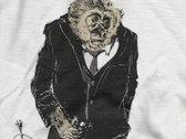 Mr. Gibbon Tee Shirt -  Men's/Unisex Silver photo
