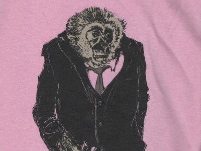 Mr. Gibbon Tee SHirt - Women's Pink V Neck - MEDIUM ONLY main photo