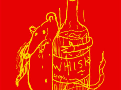 RAT WITH A WHISKEY BOTTLE (tee shirt) main photo