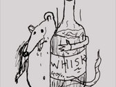 RAT WITH A WHISKEY BOTTLE (tee shirt) photo