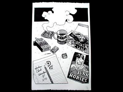 Silkscreened Album Launch Poster main photo